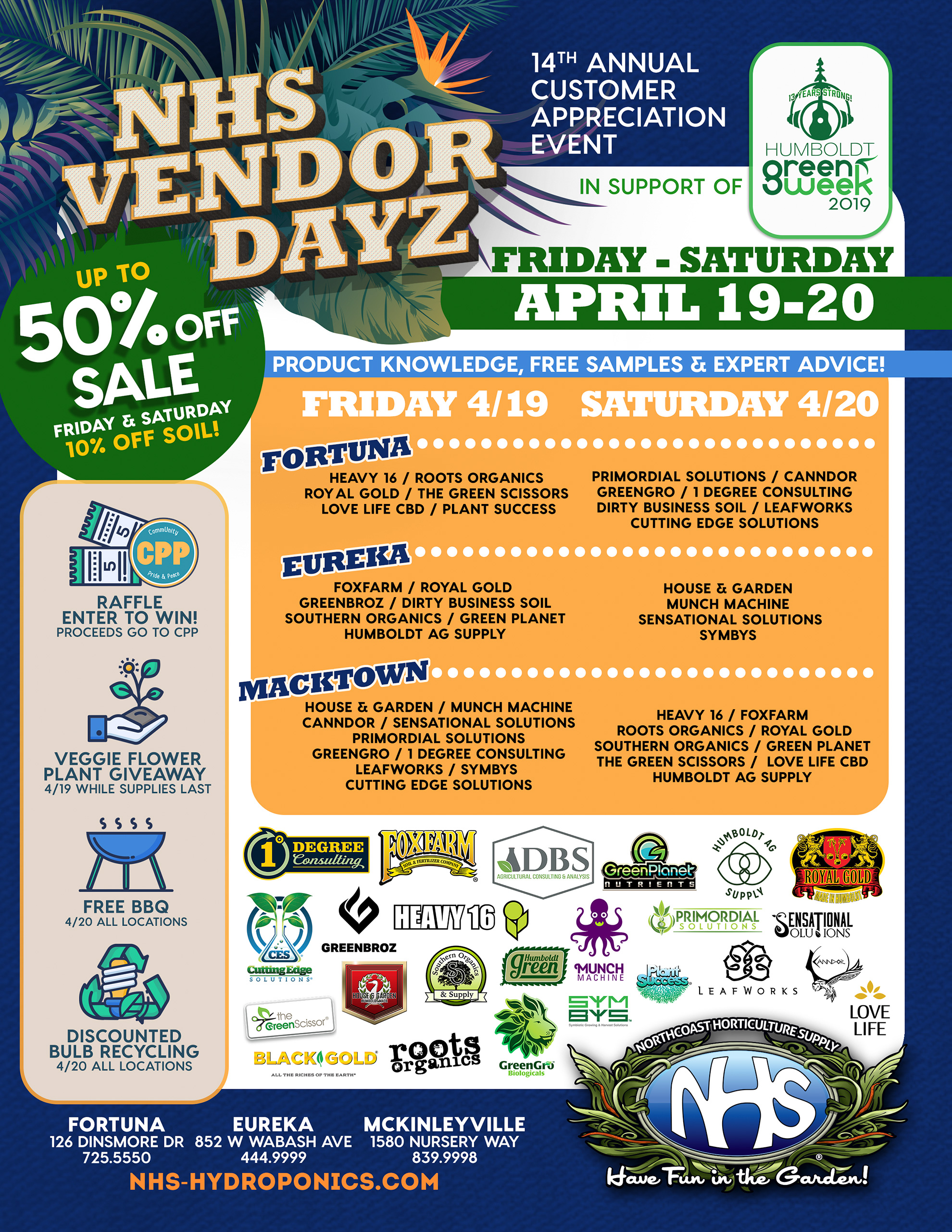 Northcoast Horticulture Supply Vendor Dayz Event - NHS-Hydroponics